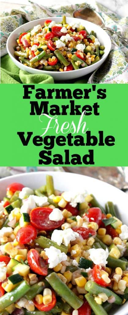 Farmer's Market Vegetable Salad title text collage image