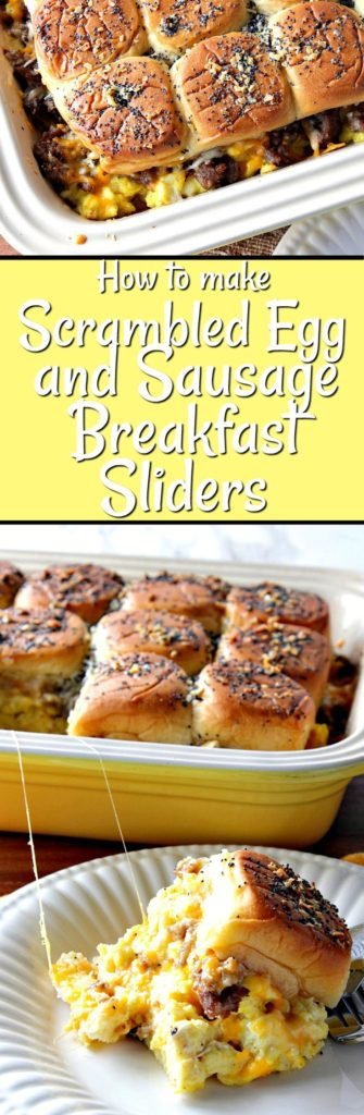 Vertical Title text breakfast slider collage images