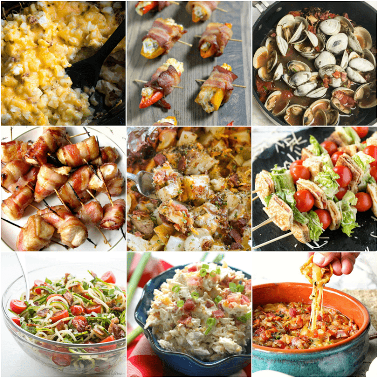 Bacon Month Recipe Collage Week One