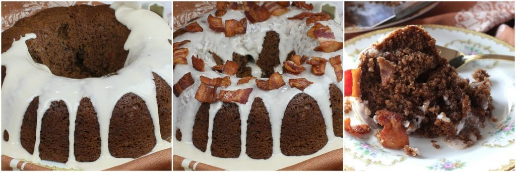 How to garnish a bacon root beer bundt cake