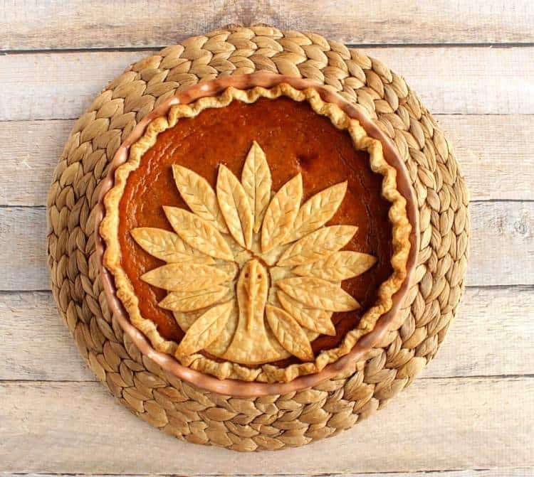 Turkey Crust Pumpkin Pie