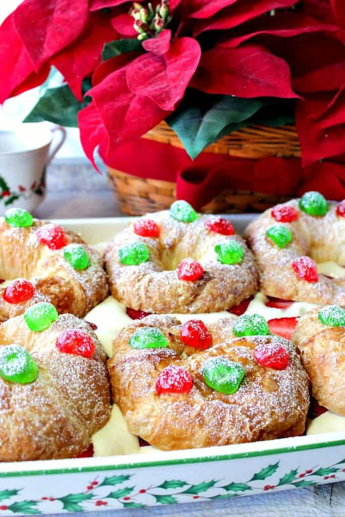 Special Occasion No-Bake Eggnog Pastry Cream Filled Croissants | Kudos Kitchen by Renee