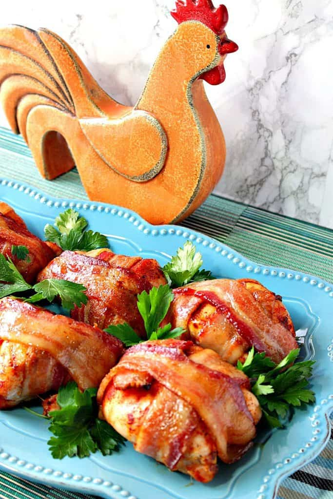 Smoky Sweet Bacon Wrapped Chicken Breasts   Kudos Kitchen by Renee
