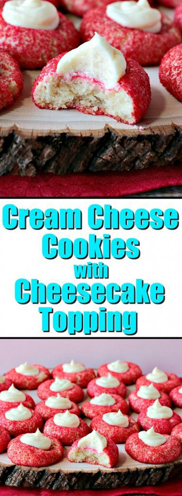 Cream Cheese Cookies with Cheesecake Topping - www.kudoskitchenbyrenee.com