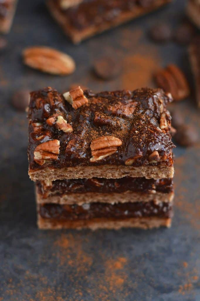 a stack of brownies with nuts for chocolate dessert recipes roundup