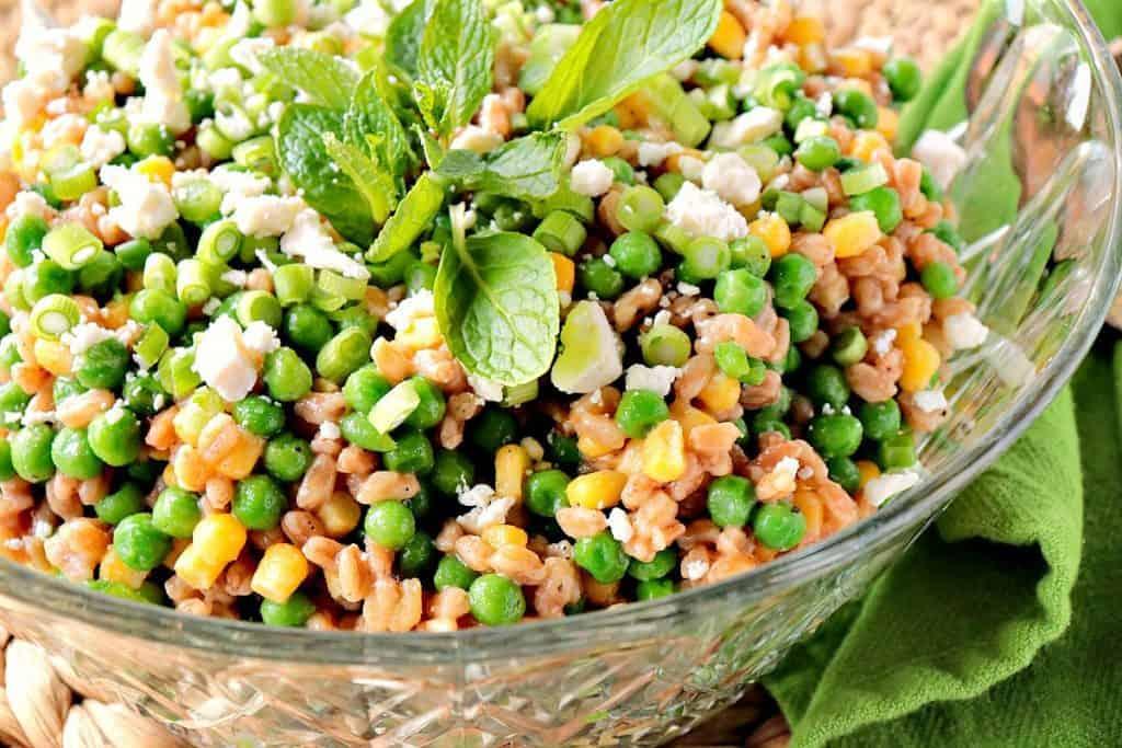 Springtime Pea & Farro Salad with Mint & Feta