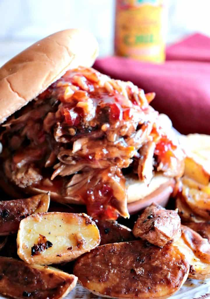 Spicy Thai Pulled Pork with Orange for the Slow Cooker. - www.kudoskitchenbyrenee.com