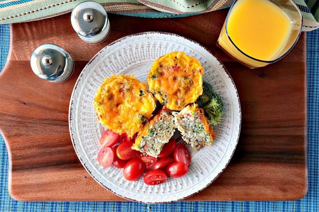 Healthy Quinoa Veggie Egg White Cups for Breakfast - kudoskitchenbyrenee.com