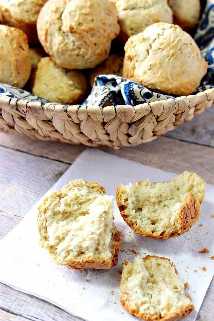 One Bowl Homemade Beer Biscuits with Herbs - kudoskitchenbyrenee.com