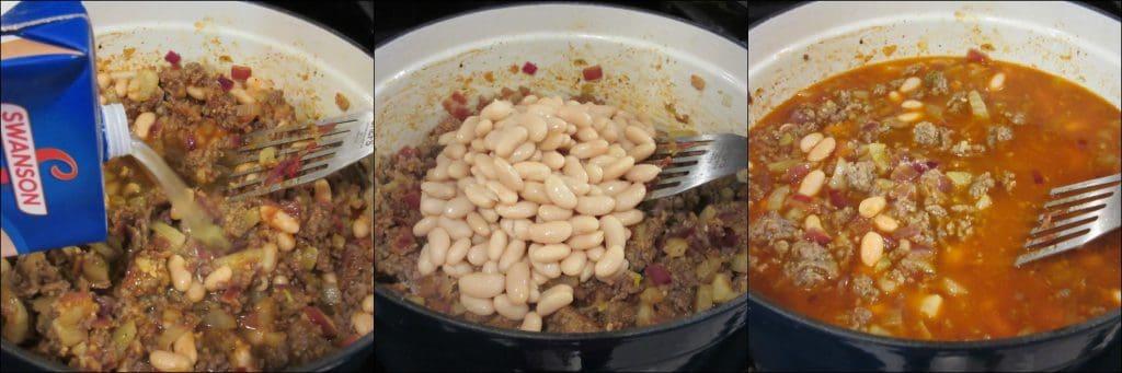 Photo tutorial of making White Bean, Fennel & Italian Sausage Soup - www.kudoskitchenbyrenee.com