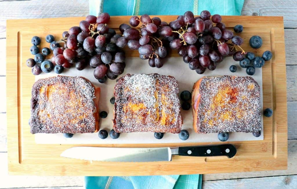 Sweet & Savory Blueberry Monte Cristo French Toast - www.kudoskitchenbyrenee.com