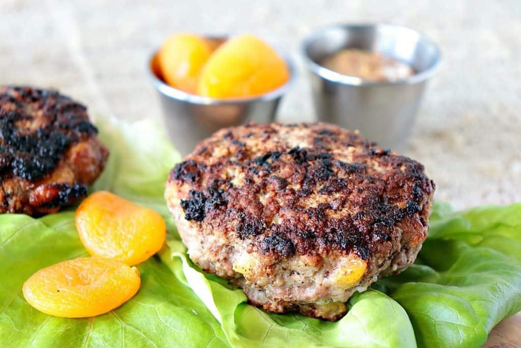 Juicy Pork Burgers with Dried Apricots & Grainy Mustard - kudoskitchenbyrenee.com