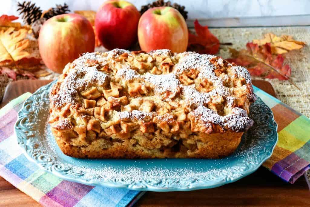 No Knead Apple Yeast Bread with Cinnamon & Sugar - kudoskitchenbyrenee.com
