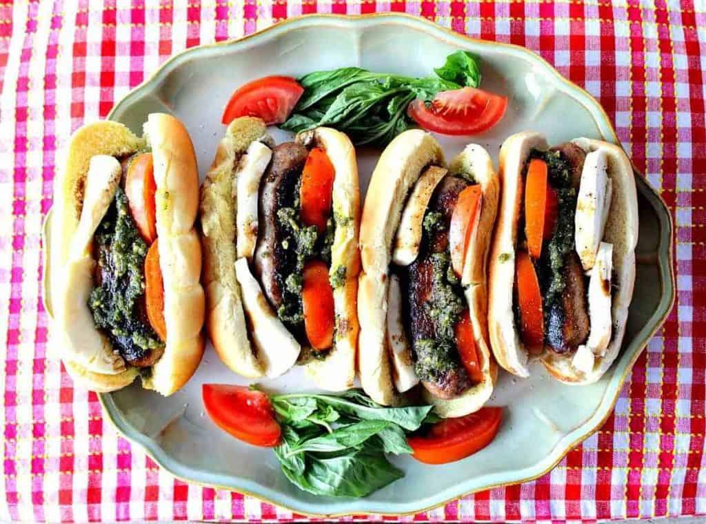 Italian Sausage Caprese Sandwich - kudoskitchenbyrenee.com