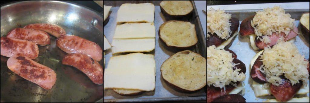 How to make Knockwurst Sandwich photo tutorial. - kudoskitchenbyrenee.com