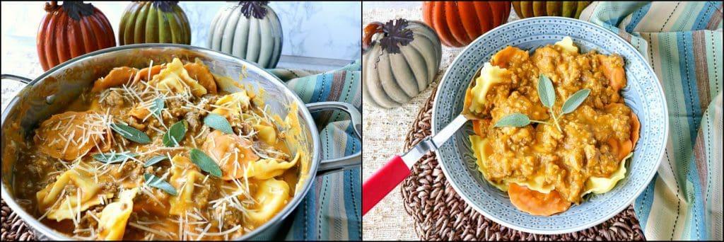 How to make Easy Ravioli with Pumpkin Vodka Sauce & Sausage photo tutorial. - kudoskitchenbyrenee.com