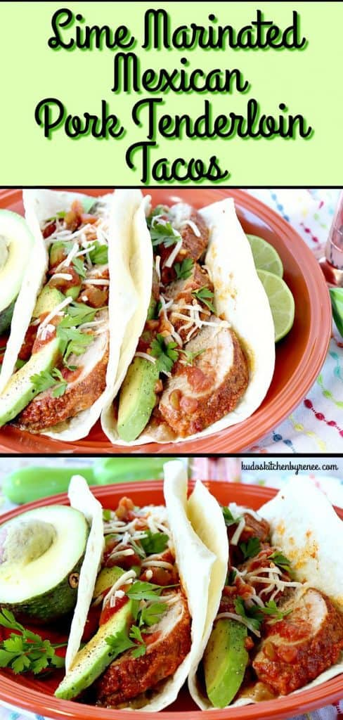 Taco Tuesday just got an upgrade! These Lime Marinated Mexican Pork Tenderloin Tacos don't take much longer to make than a standard ground beef taco, but the flavor is far superior. - kudoskitchenbyrenee.com