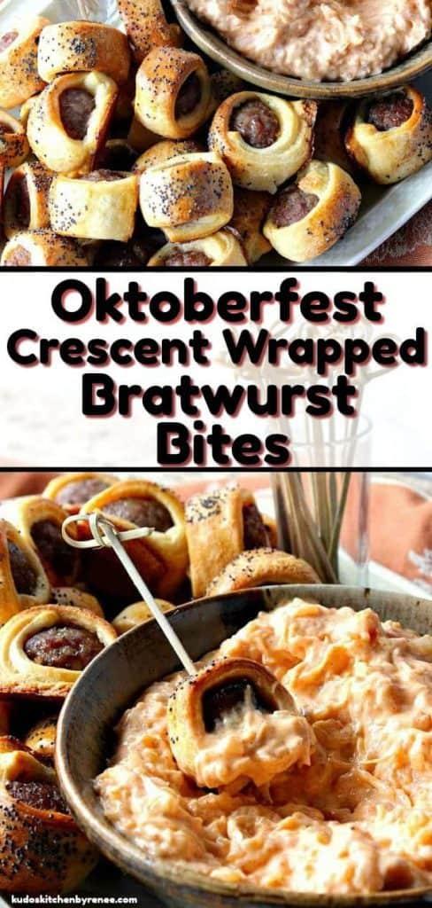 Bratwurst Bites Wrapped in Crescent Rolls - kudoskitchenbyrenee.com