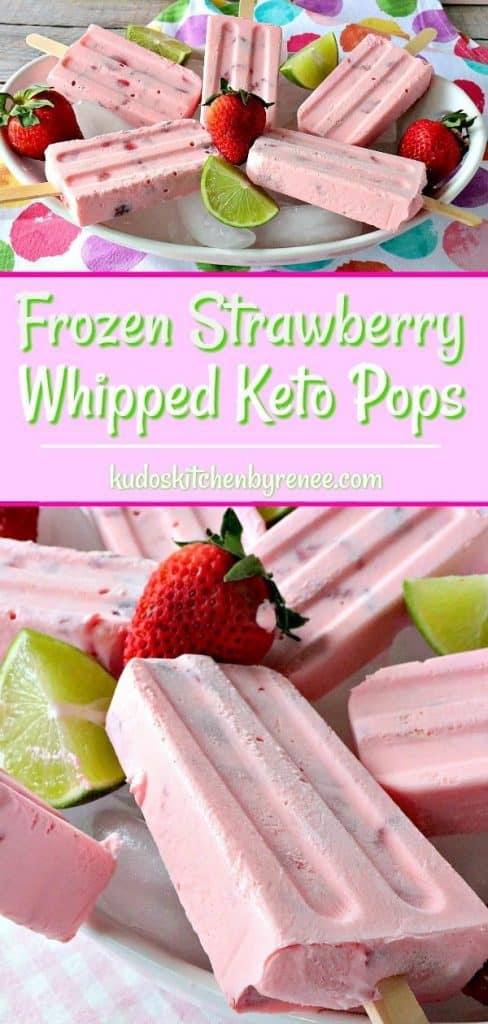 Frozen Strawberry Whipped Keto Pops - kudoskitchenbyrenee.com