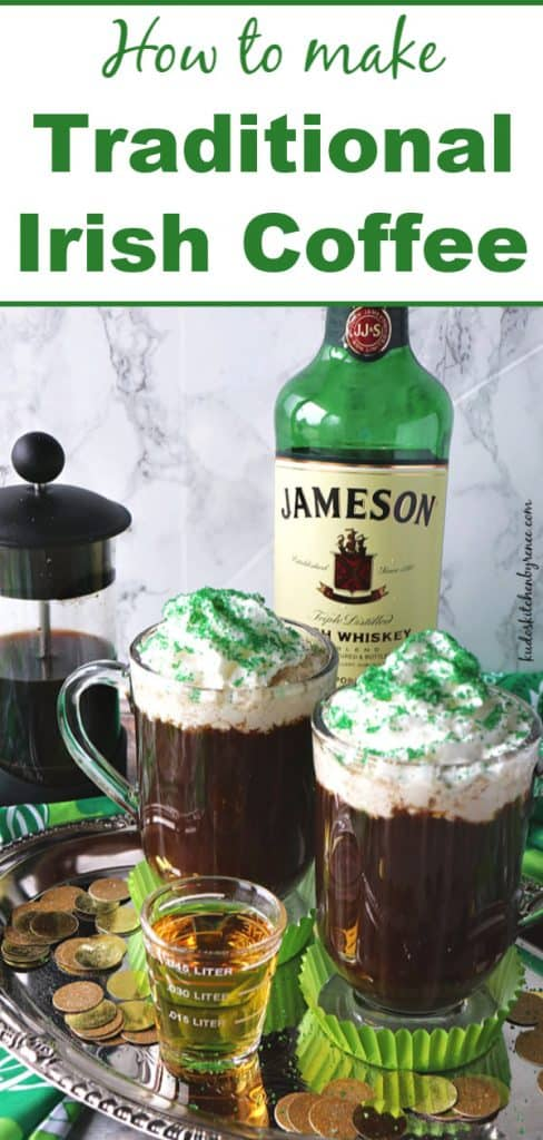 Title Text image for how to make traditional Irish coffee
