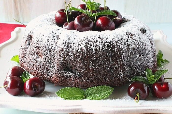 Double Chocolate Cherry Bundt Cake