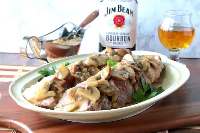 Pork Tenderloin with Mushroom Bourbon Gravy