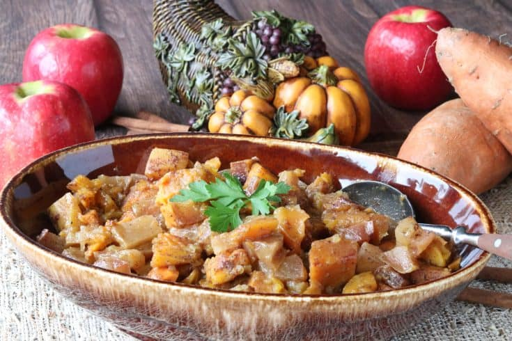 Cinnamon Sweet Potatoes with Squash and Apples